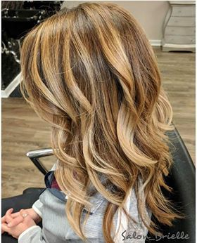 Warm toned beautiful Balayage