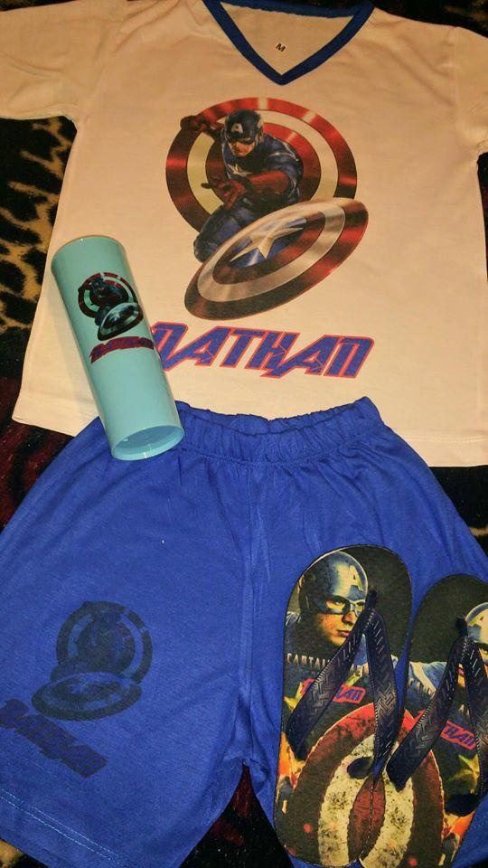 d8044b75bffbfd Kit Pijama e Chinelo Infantil Perssonalizado