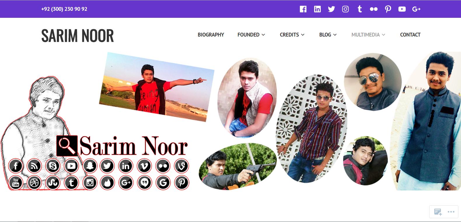 sarim noor website