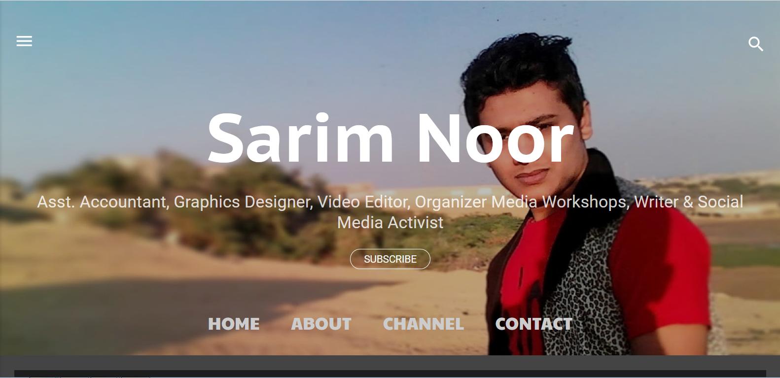 sarim noor official website