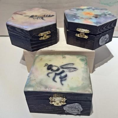 Encaustic Keepsake Box