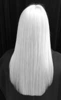 Keratinized White Hair