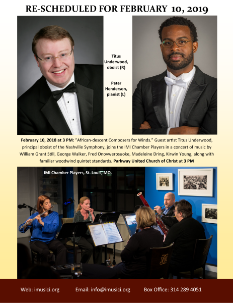 Concert moved to February 10, 2019