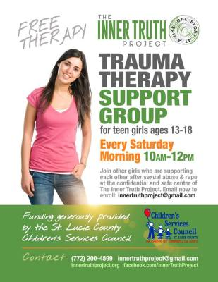 Teen Therapy Group – Survivors of Sexual Violence at the Inner Truth Project - Saturdays