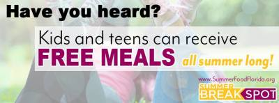 Free Meals for Kids and Teens - Summer Break Spot