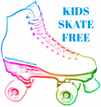 Kids Skate Free at the Skate Factory