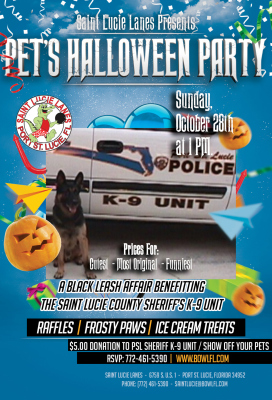 Pet's Halloween Party at Saint Lucie Lanes