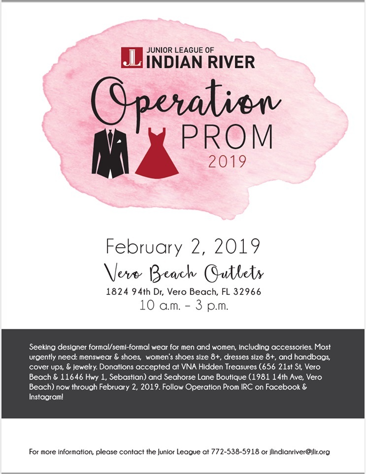 Operation Prom hosted by the Junior League of Indian River County