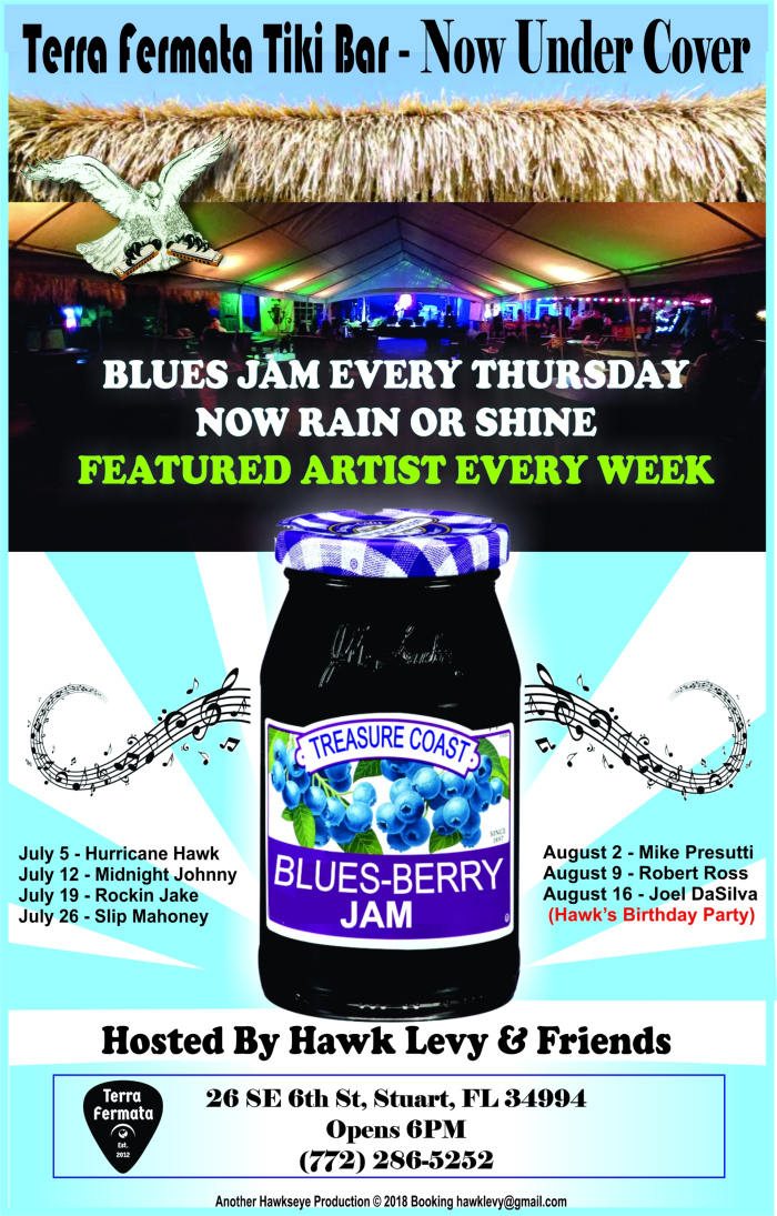 Hawk Levy & Friends host Treasure Coast Blues-Berry Jam at Terra Fermata