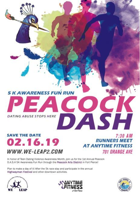We Leap Inc. Peacock Dash - 5K Awareness Fun Run at Anytime Fitness