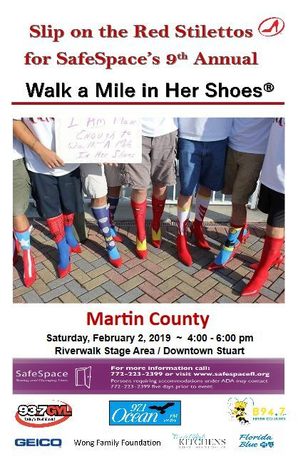 SafeSpace's Walk a Mile in Her Shoes - Treasure Coast Walks
