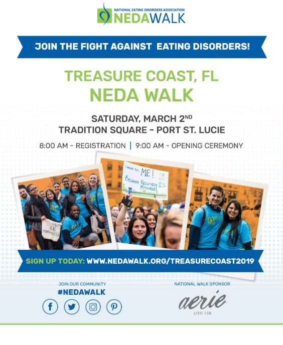 NEDA (National Eating Disorders Association) Walk - Treasure Coast at Tradition Square - Port St Luc