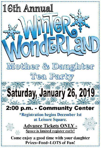 Annual Winter Wonderland Mother Daughter Tea Party - Vero Beach