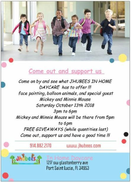 Open House at Jhubees In-Home Daycare