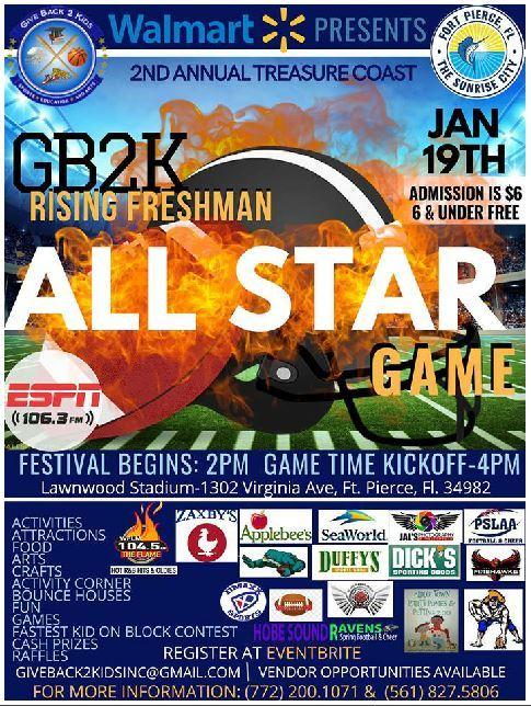 Treasure Coast GB2K Rising Freshman All Star Game at Lawnwood Stadium in Fort Pierce