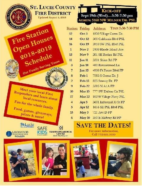 Fire Station Open Houses in St Lucie County