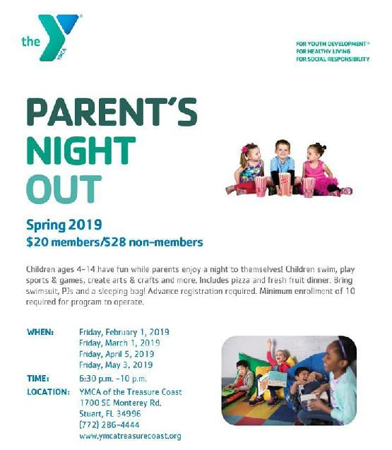 Parent's Night Out at the YMCA of the Treasure Coast