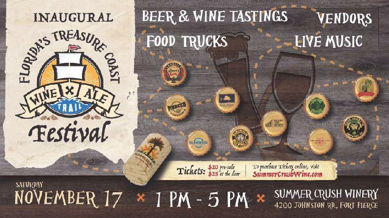 Treasure Coast Wine & Ale Trail Festival at Summer Crush Winery