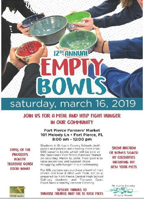 Annual St Lucie County Empty Bowls at Fort Pierce Farmer's Market