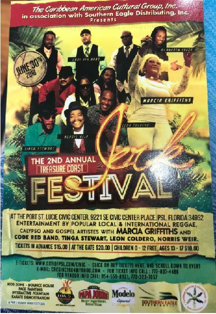 Annual Treasure Coast Jerk Festival at the Port St Lucie Civic Center