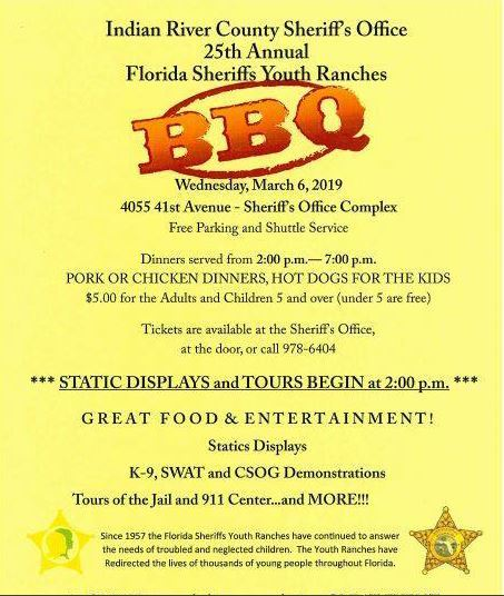 Florida Sheriff's Youth Ranches Barbecue at Indian River County Sheriff's Office
