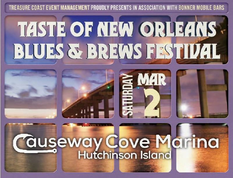 Taste of New Orleans Blues & Brews Festival at the Causeway Cove Marina
