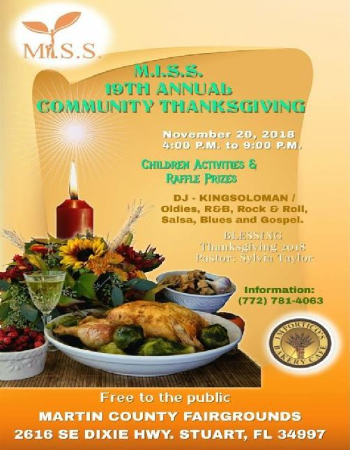 M.I.S.S. Annual Community Thanksgiving at the Martin County Fairgrounds