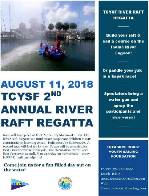 TCYSF Annual River Raft Regatta at the Fort Pierce Marina