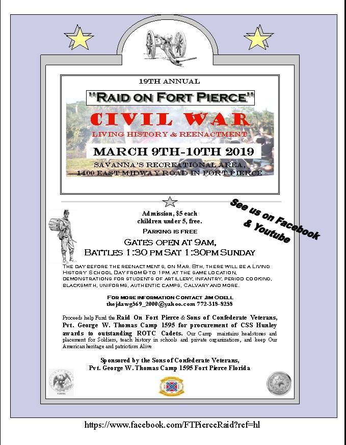 Raid on Fort Pierce Civil War Reenactment and Living History