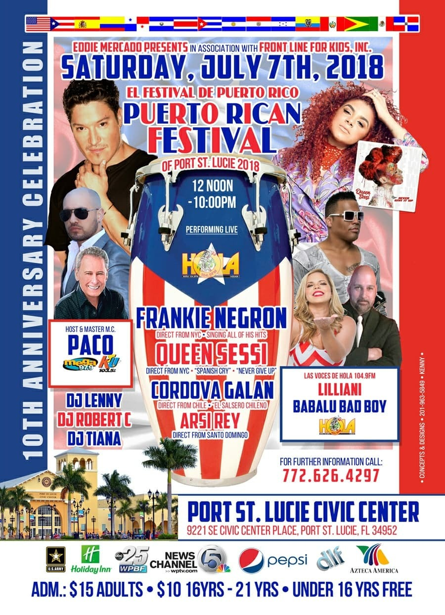 Annual 'Fiesta Latina De Puerto Rico' at the Port St Lucie Civic Center
