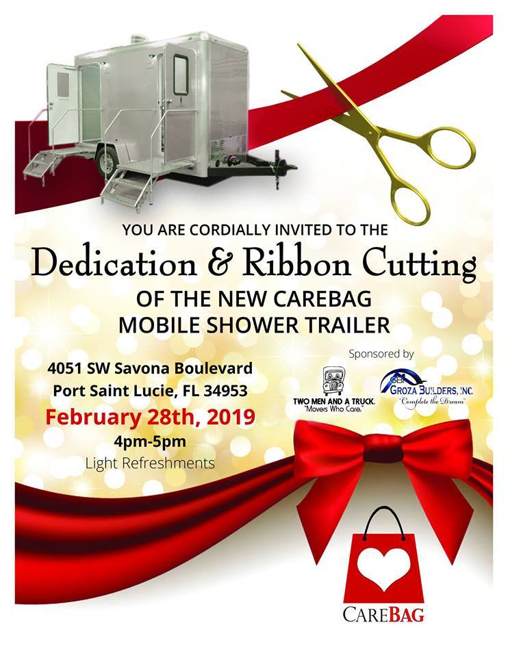 CareBag Inc. Dedication & Ribbon Cutting - Mobile Shower Trailer