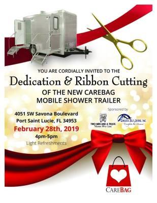 CareBag Inc. Dedication & Ribbon Cutting - Mobile Shower Trailer