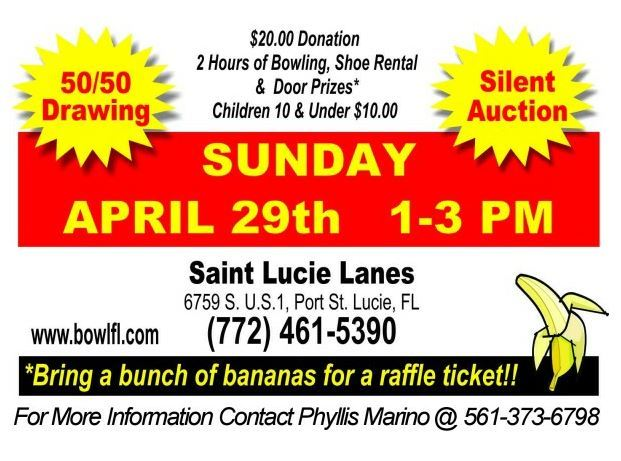 """Save the Chimps"" Bowl-A-Thon at Saint Lucie Lanes"