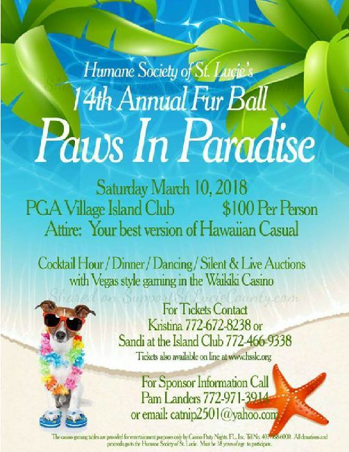 Fur Ball at PGA Village Island Club
