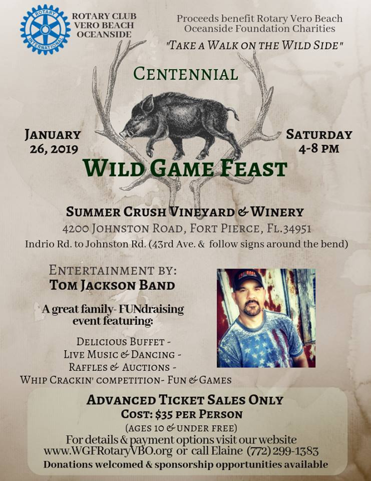 Vero Beach Oceanside Rotary's Centennial Wild Game Feast