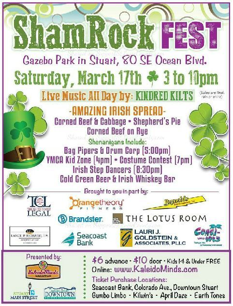 Shamrock Fest at Gazebo Park in Stuart