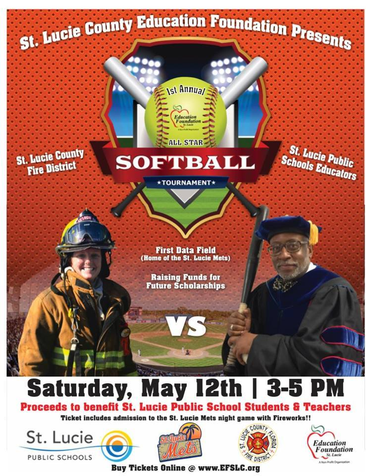 St Lucie County Education Foundation presents the Annual Softball Tournament at First Data Field
