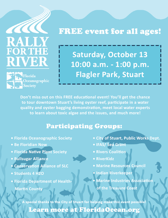 Rally for the River at Flagler Park - Stuart