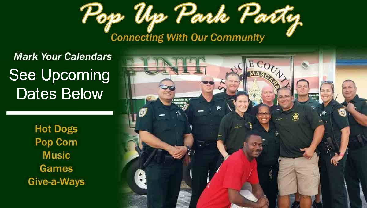 Pop Up Park Party hosted by the St Lucie County Sheriff's Office