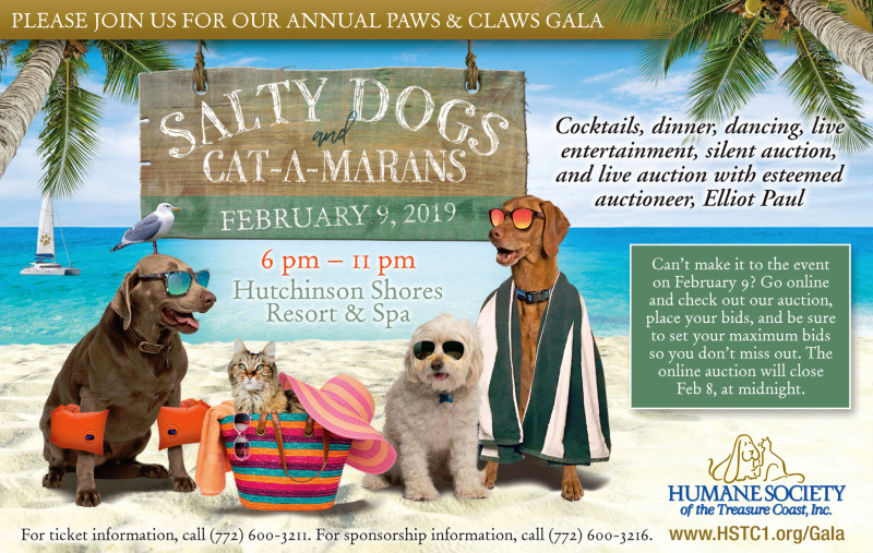 Paws & Claws Gala hosted by the Humane Society of the Treasure Coast