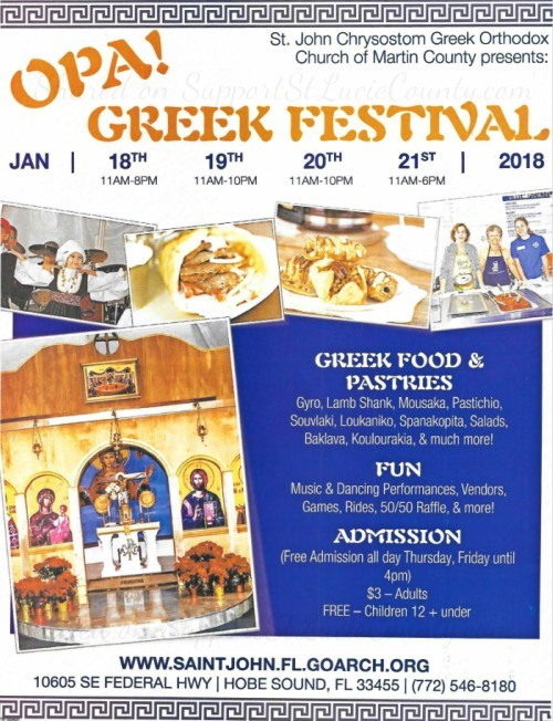 OPA! Greek Festival at St John Chrysostom Greek Orthodox Church