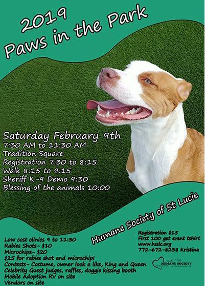 Humane Society of St Lucie County hosts Paws in the Park