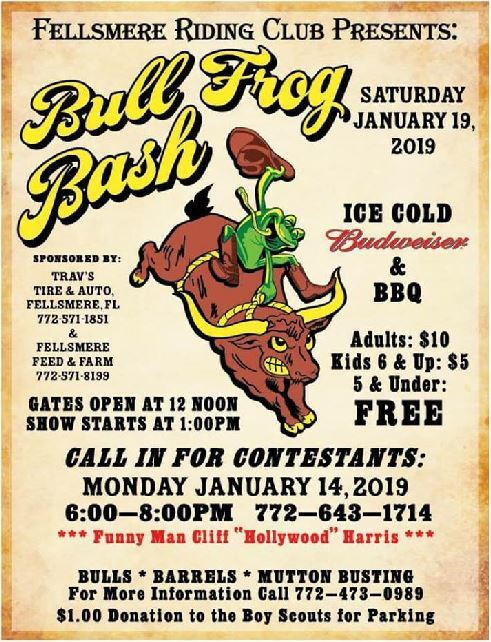 Fellsmere Riding Club presents the Bull Frog Bash