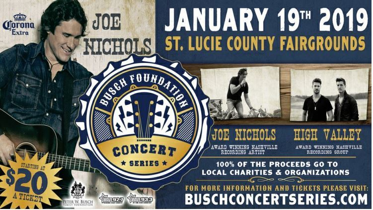 Busch Concert Series Presents Joe Nichols & High Valley at the St Lucie County Fairgrounds