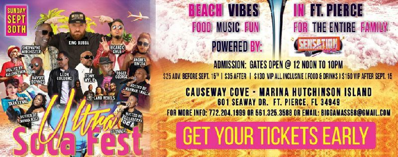 Ultra Soca Fest at the Causeway Cove Marina in Fort Pierce