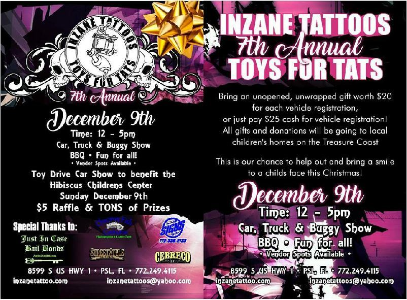 Toys For Tats at Inzane Tattoo in Port St Lucie