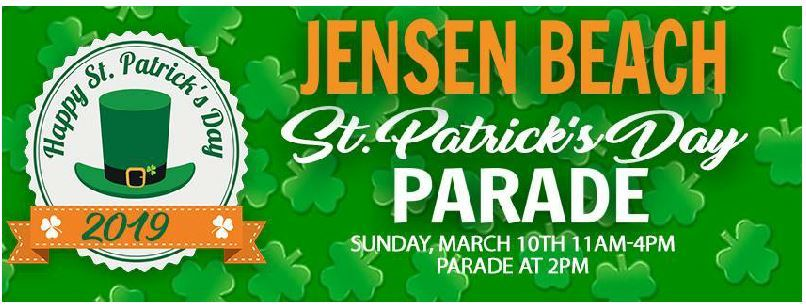 Jensen Beach St Patrick's Day Parade in Downtown Jensen Beach