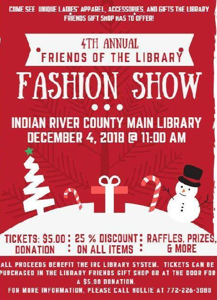 Friends of the Library Fashion Show at IRC Main Library