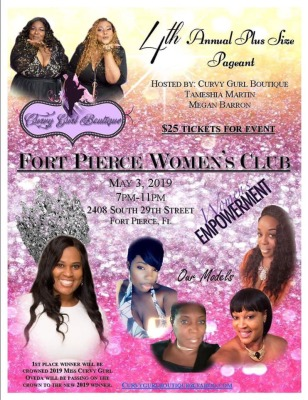Curvy Gurl Boutique's Annual Plus Size Pageant at the Fort Pierce Woman's Club