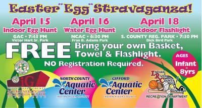 Indoor Egg Hunt at Gifford Aquatic Center